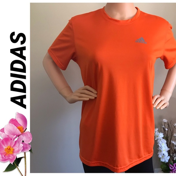 adidas Tops - 🔥Adidas shirt short sleeve, orange color!🔥